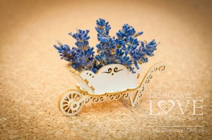 .Chipboard - Wheelbarrow 3D - Sweet Lavender