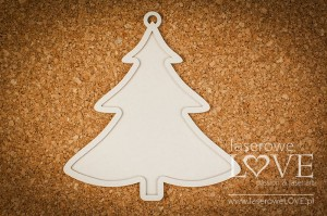 Chipboard - Double Slim Christmas tree - Vintage Christmas