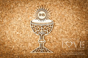 Chipboard - Big goblet with ornament - El Santo Rosario