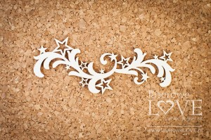 Chipboard - Ornament with stars Le Astre