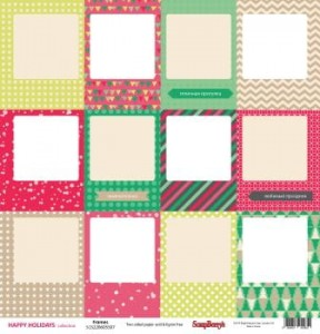 "Papier - "" Frames "" - Happy Holidays - 30,5 x 30,5 cm - ScrapBerry's"