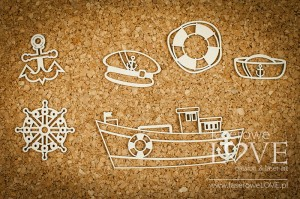 Chipboard - Nautical kit - Nautical Holidays