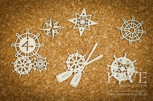 Chipboard - Helms andwind roses - Nautical Holidays