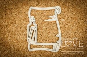 Chipboard - Frame letter in a bottle - Nautical Holidays