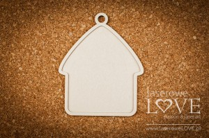 Chipboard - House base - Christmas with elves