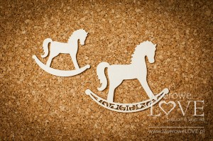 Chipboard - Rocking horse - Baby lily