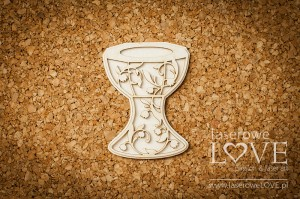 .Chipboard - Baptism font - Baby lily