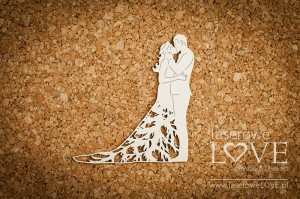 Chipboard - Couple in love - Wedding Day