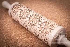 Engraved rolling pin - Snowflakes