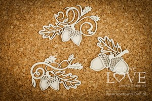 Chipboard - Layered ornaments with acorns - Hello Autumn