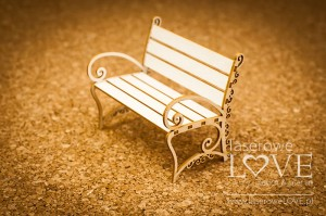 .Chipboard - Bench 3D - Sweet lavender