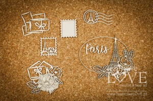 Chipboard - Letters from Paris - Vintage Trip