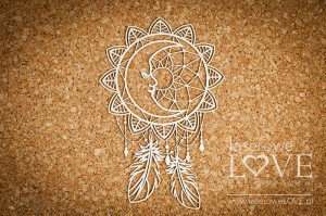 Chipboard - Dreamcatcher with the Moon - Indiana