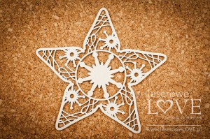 Chipboard - Star - Vintage Christmas