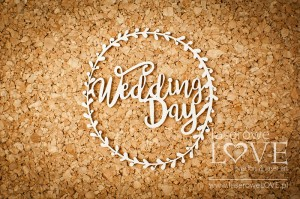 Chipboard - Wedding Day i a frame - Simple Wedding