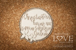 .Chipboard -  Christ the Lord nourishes us  - Flower