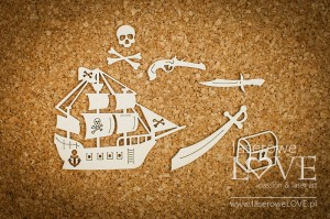 Chipboard - Pirate ship - Nautical Holidays
