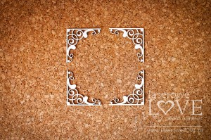 .Chipboard  -Paroles corners floral ornaments