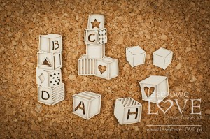 .Chipboard - Blocks - Vintage Baby