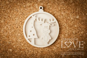 Chipboard - Bubble with reindeer shaker box - Winter Fun