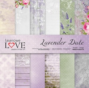 Zestaw papierów - Lavender Date - 30,5 cm x 30,5 cm - Laserowe LOVE