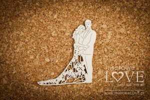 .Chipboard - Young couple  - Wedding Day