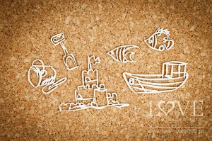 Chipboard - Sand castle - Ocean Adventure