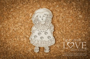 .Chipboard - Lace doll - Vintage Baby