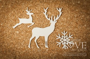 Chipboard - Reindeers - Winter Fun