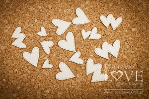 Chipboard - Set of hearts - Simple Wedding