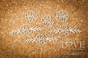 Chipboard - Flowers - Indiana