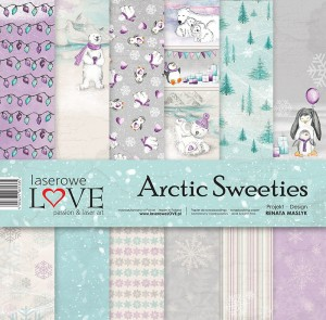Set of papers - Arctic Sweeties  - 30,5 cm x 30,5 cm - Laserowe LOVE