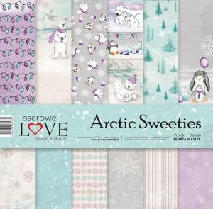 Zestaw papierów - Arctic Sweeties  - 30,5 cm x 30,5 cm - Laserowe LOVE