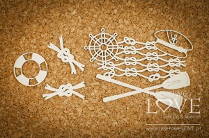 Chipboard  - Composition with paddles - Nautical Holidays