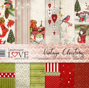 Set of papers - Vintage Christmas  - 30,5 cm x 30,5 cm - Laserowe LOVE