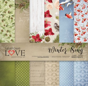 Set of papers 30x30 cm - Winter Song - Laserowe LOVE