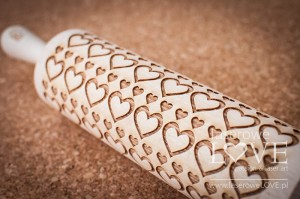 Engraved rolling pin - Hearts