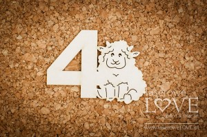 Chipboard - Sheep with no 4 - Emma & Billy