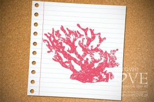 Rubber stamp - Antique coral Di Mare