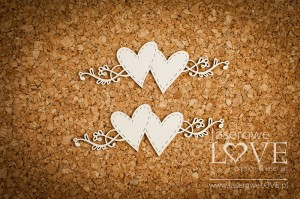 .Chipboard - Hearts and ornaments - Simple Wedding