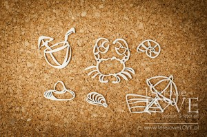 Chipboard - Crab and umbrella - Ocean Adventure