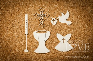 .Chipboard - Set for baptism - Baby lily