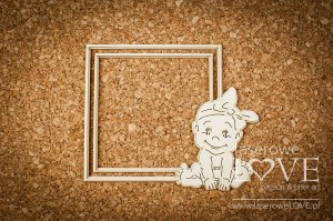 Chipboard - Frame with a girl - Emma & Billy