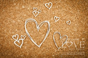 .Chipboard - Hearts - Simple Wedding