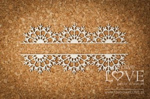 Chipboard - Border with snowflakes - Arctic Sweeties