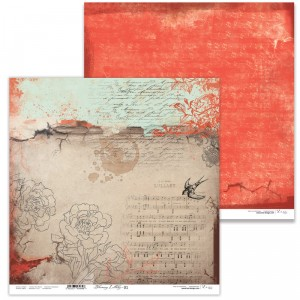 Papier 30x30 cm  - Blooming Lullaby 01 -  Lexi Design