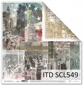 Papier do scrapbookingu - SCL549 - ITD Collection