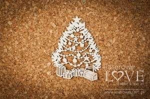 Chipboard - Christmas Tree - Shabby Winter