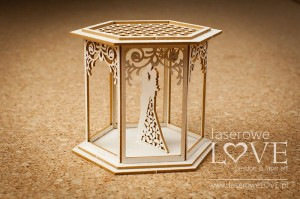 .Chipboard - Gazebo with a couple, 3D - Flower