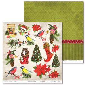 Papier 30 x 30 cm - Vintage Christmas - 02 - Laserowe LOVE
